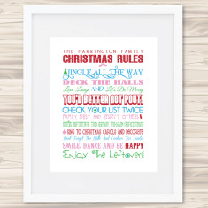 Our family Christmas rules print