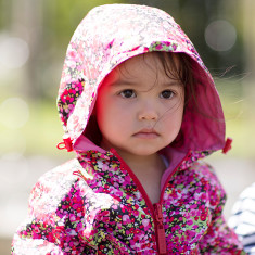 Girls' anywhere reversible raincoat
