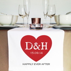 Personalised initial wedding table runners (various designs)
