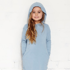 Hopscotch dress in chambray