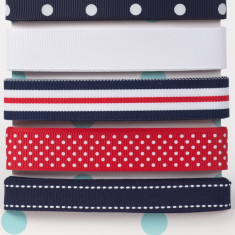 Ribbon Card - Nautical Stripe