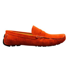 Loafers flap tangerine men's shoe