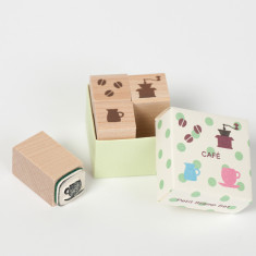 Petit Stamp Set - Cafe