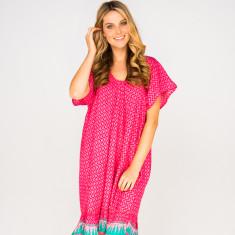 Brianna dress in zig zag pink