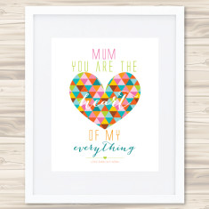 You are the heart of my everything personalised print