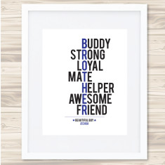 Brother personalised typographic print