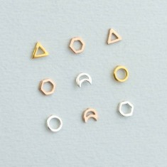Fine Geometric Stud Earrings