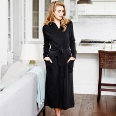 Valley Robe in black