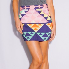 Women's Aztec mini skirt