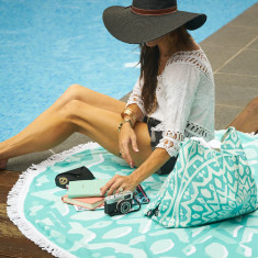 Bahia Large Luxury Round Beach Towel