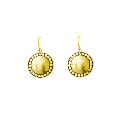 Marrakech Hanging Earrings in 18 kt yellow gold plate