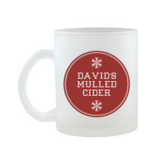 Personalised Christmas Frosted Mug