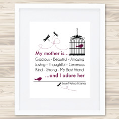 My Mother is personalised print