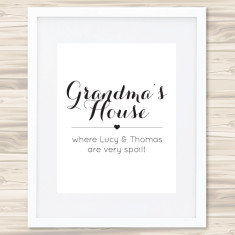Your personalised print - add your own text