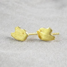 Tweet bird ear studs