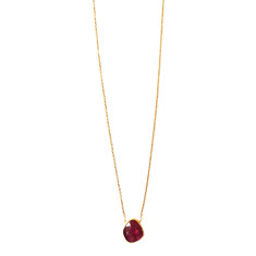 Pink Tourmaline Gold Plated Necklace