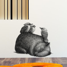 Wombat With 3 Kookas wall sticker