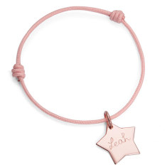 Children's personalised star friendship bracelet