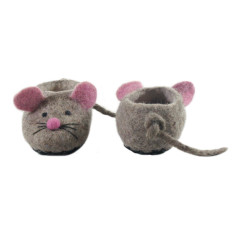 Mousy felt booties