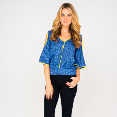 Vixen top in zig zag navy