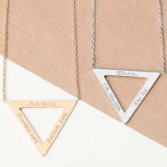 Personalised Triangle Necklace
