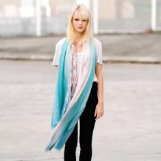 Tokomaru Bay Linen-blend scarf