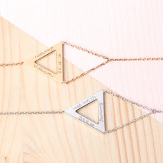 Personalised Triangle Chain Bracelet