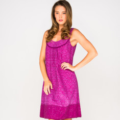 Sofia dress in paisley magenta