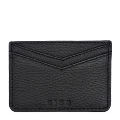 King card holder in black leather
