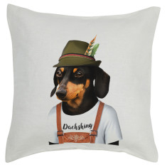 Dachshund linen cushion cover