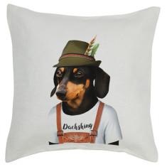 Dachshund linen cushion