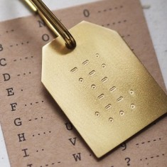 Personalised Morse Code Message Keyring