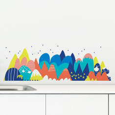 Melting Mountain Removable Wall Sticker