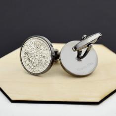 Sixpence Gunmetal Coin Cufflinks 1928 To 1967