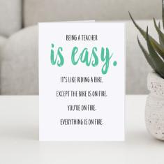 Humorous Teacher greeting card in 4 designs