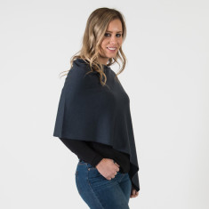 Merino wool poncho topper in various colours