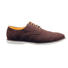 Brogue coffee men's shoe