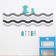 Woodland Otter Removable Wall Sticker