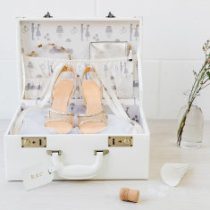 Wedding & Honeymoon Suitcase Keepsake Box