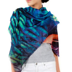 Cashmere Peacock Scarf