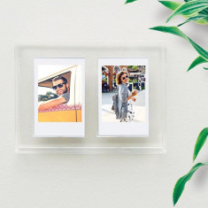 Twin photo frame for floating Polaroid Instax images