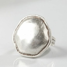 Reena silver-plated adjustable ring