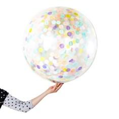 Pastel jumbo confetti balloons (pack of 2)