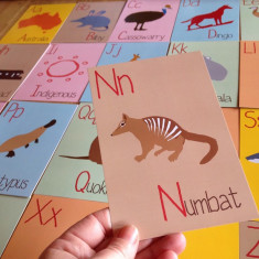 Australian alphabet flash cards (set of 26)