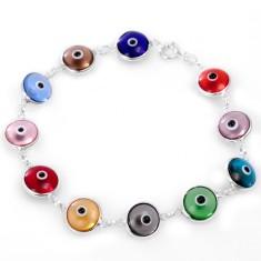 Evil eye glass bead bracelet