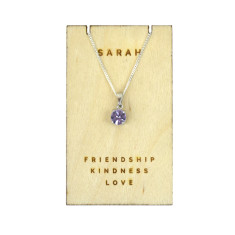 Personalised Birthstone Sterling Silver Necklace