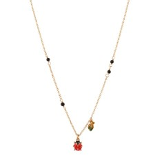Ladybird short leaf necklace