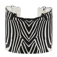 Zebra Cuff In Silver