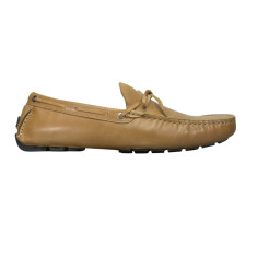 Loafers lace nubuck leather camel brown men's shoe