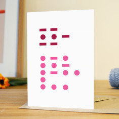 Mum rules Morse code Mother's Day card
